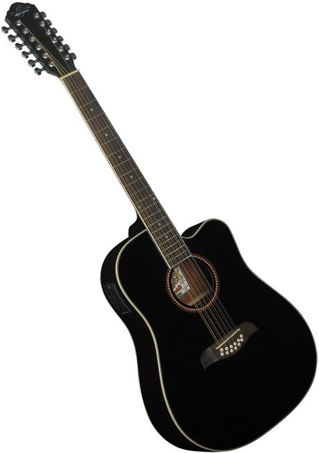 oscar schmidt od312ce 12 string cutaway acoustic electric guitar od312ceb black. Black Bedroom Furniture Sets. Home Design Ideas