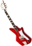 Eastwood Airline '59 1P Custom Single Pickup Solid Body Electric Guitar - Red w/ Hard Case
