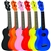 Eddy Finn Minnow Soprano Ukulele Uke EF-MN w/ Bag Red, Yellow, Black, Orange, Pink, Blue