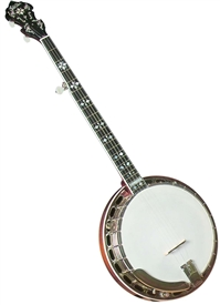 Gold Star GF-100HF Hearts and Flowers Mahogany 5 String Pro Banjo