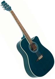 kona k1tbl dreadnought cutaway acoustic guitar trans blue. Black Bedroom Furniture Sets. Home Design Ideas