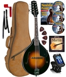 Kentucky KM-140 Mandolin Standard Solid Top A-Model Mandolin Bag,Strings DVD Beginner Package